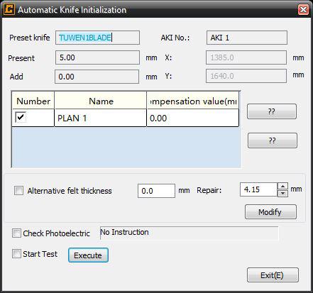 Inicialización automática de la cuchilla