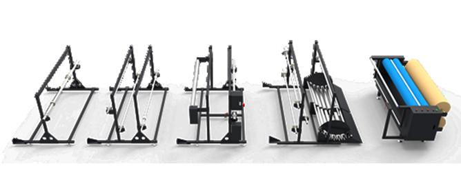 Varios dispositivos de carga de material