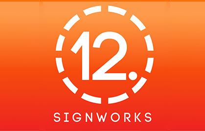 【Industria de la señalización】 SignWorks de 12 puntos. America
